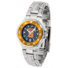 Syracuse Orange (Orangemen) Competitor AnoChrome Ladies Watch with Steel Band and Colored Bezel