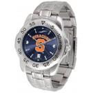 Syracuse Orangemen Sport Steel Band Ano-Chrome Men's Watch