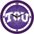 "Texas Christian Horned Frogs 12"" Dimension Wall Clock"