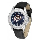 UTEP Texas (El Paso) Miners Competitor AnoChrome Men's Watch with Nylon/Leather Band