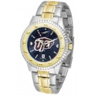 UTEP Texas (El Paso) Miners Competitor AnoChrome Two Tone Watch