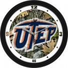 "UTEP Texas (El Paso) Miners 12"" Camo Wall Clock"