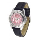 UTEP Texas (El Paso) Miners Ladies Sport Watch with Leather Band and Mother of Pearl Dial