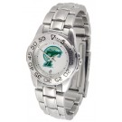 Tulane Green Wave Ladies Sport Watch with Stainless Steel Band