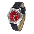Texas Tech Red Raiders Sport AnoChrome Ladies Watch with Leather Band