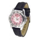 North Dakota Fighting Sioux Ladies Sport Watch with Leather Band and Mother of Pearl Dial