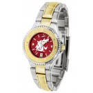 Washington State Cougars Competitor AnoChrome Ladies Watch with Two-Tone Band