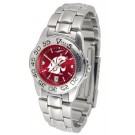 Washington State Cougars Sport AnoChrome Ladies Watch with Steel Band