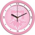 "Weber State Wildcats 12"" Pink Wall Clock"
