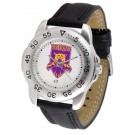 Weber State Wildcats Men's Sport Watch with Leather Band