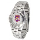 Weber State Wildcats Ladies Sport Watch with Stainless Steel Band
