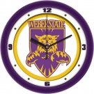 """Weber State Wildcats Traditional 12"""" Wall Clock"""