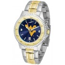 West Virginia Mountaineers Competitor AnoChrome Two Tone Watch