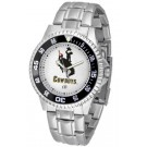 Wyoming Cowboys Competitor Watch with a Metal Band