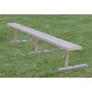 8' Deluxe Thermoplastic Portable Players Bench with 2 Legs and without a Back