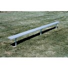 8' Deluxe Thermoplastic Inground Players Bench with 2 Legs and without a Back