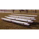 9' Portable Stadium Aluminum 5 Row Bleachers without Guard Rails
