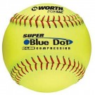 "12"" Super Blue Dot® Softballs from Worth - 1 Dozen"