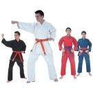 Blue Fighter Plus Karate Middle Weight Uniform (Blue Size 4) from Starpak